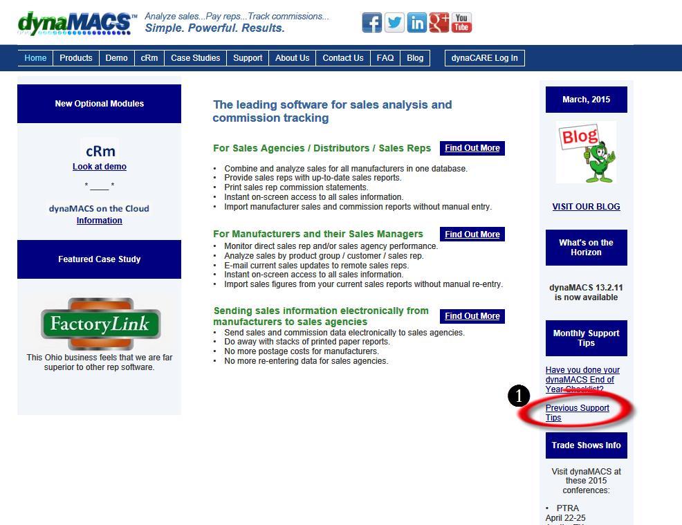 DM Web Site Main Page