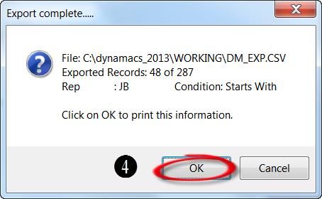 Export Complete Dialog Box