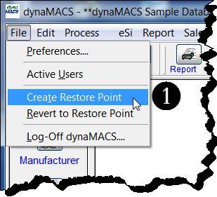 Main Menu - Create Restore Pt