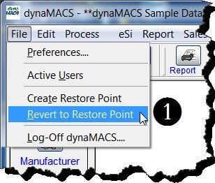 Main Menu - Revert to Restore Pt