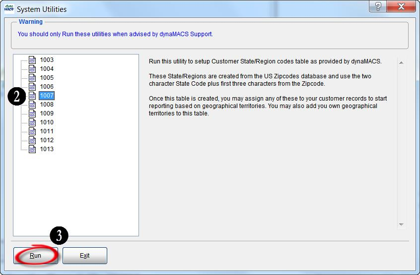Sys Utilities Screen 1