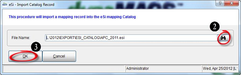 eSi Import Catalog Record