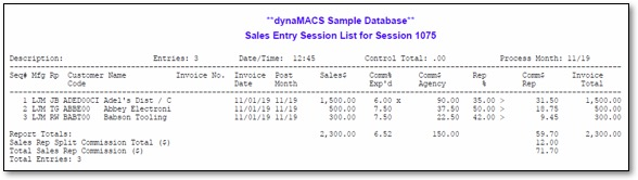 dynamacs sales commission