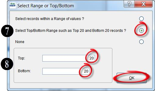 Select Range Dialog Box
